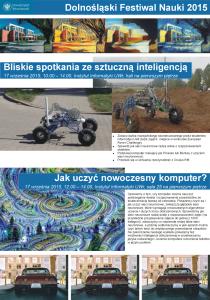 Dolnośląski Festiwal Nauki - Instytut Informatyki UWr - Pracownia Inteligencji Obliczeniowej